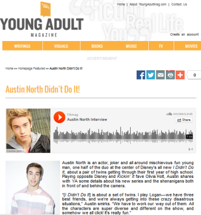 Austin North YOung Adult Mag