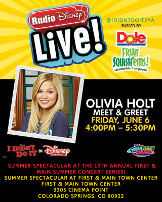 Olivia Holt Colorado Springs